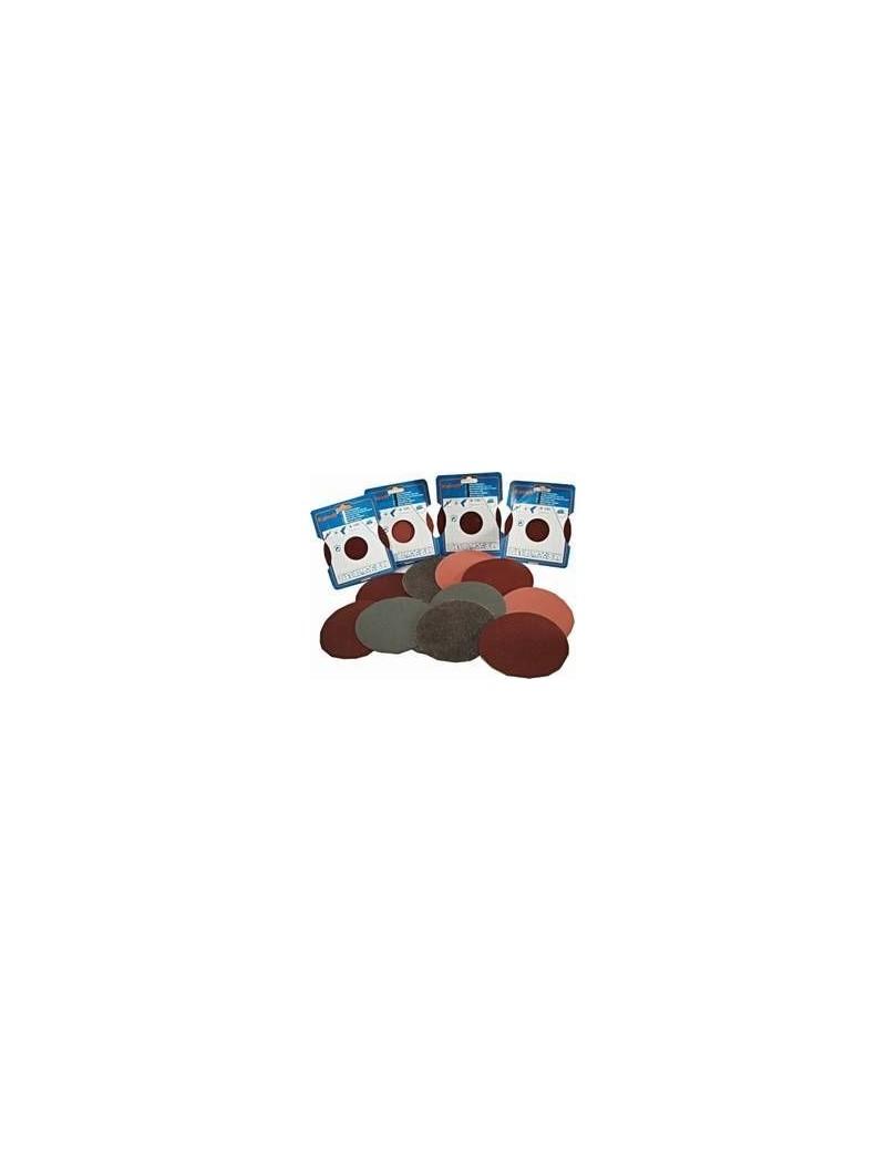 Pochette de 3 DISQUES ABRASIFS POUR PLATEAU DE PONCAGE KAINDL TRES GROS GRAINS diamètre 125mm