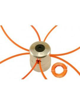 Tête de débroussailleuse universelle en aluminium renforcé et une bobine de 50m de fil