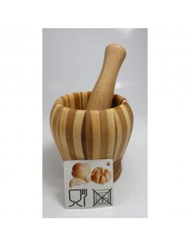 Mortier et pilon en bambou