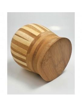 Mortier en bambou et son pilon