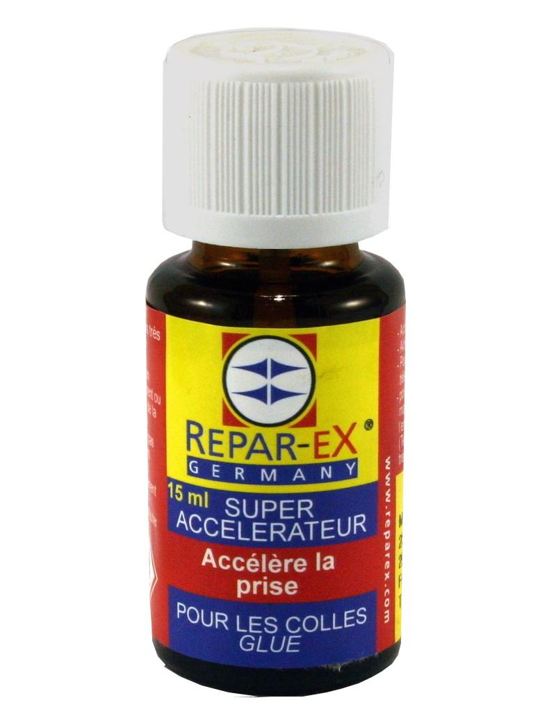 Accélérateur de colle Repar-ex en flacon de 15 ml.