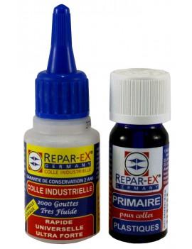 Lot de colle reparex 20 grammes de colle et 10 ml de primaire REPAR EX