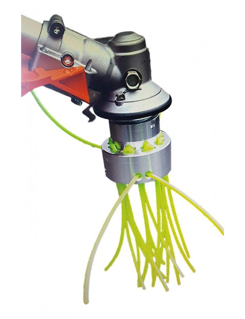 tête de débroussailleuse universelle en aluminium fonction brosse 16 fils