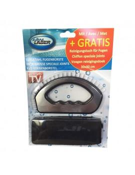 Brosse pour nettoyage des joints plus chiffon microfibre 30 x 30 cm